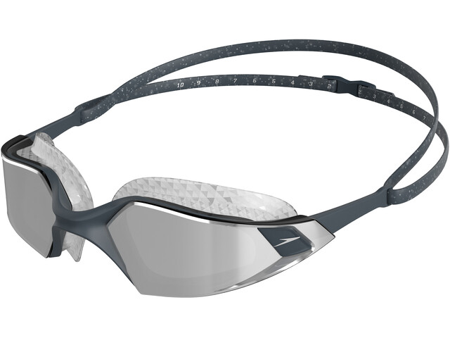 speedo Aquapulse Pro Mirror Gafas, oxid grey/silver/chrome
